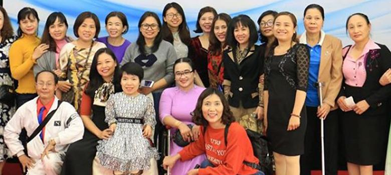 """Tham dự Hội thảo Kết nối phụ nữ khuyết tật và Lễ phát động cuộc thi """"Phụ nữ khởi nghiệp sáng tạo – Kết nối thành công"""""""