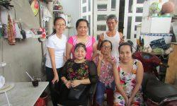 Thăm nhà và phỏng vấn một số hội viên từng nhận hỗ trợ và đào tạo nghề.