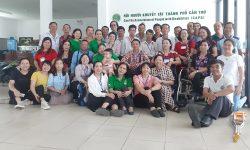 Đón tiếp đoàn khách đến thăm từ Hội Người Khuyết Tật tỉnh Lâm Đồng.