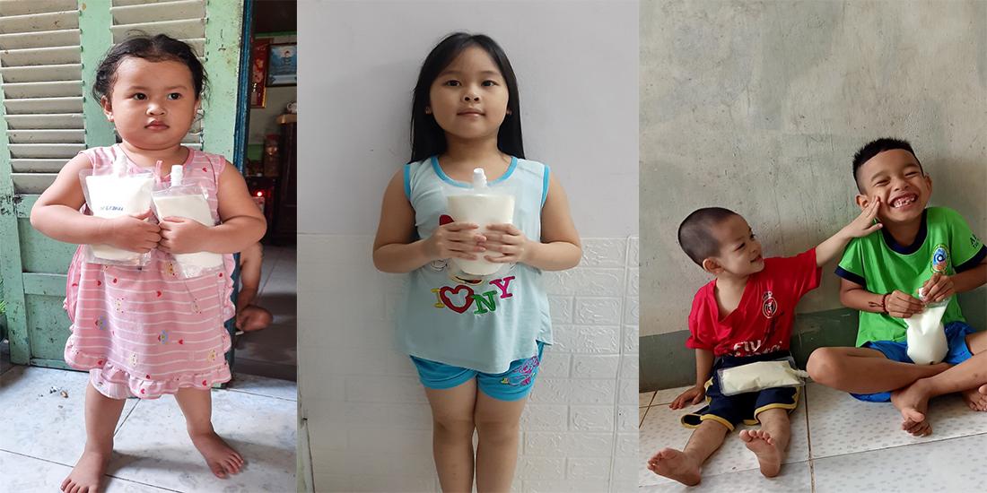 Hỗ trợ dinh dưỡng cho các bé là con của người khuyết tật có hoàn cảnh khó khăn